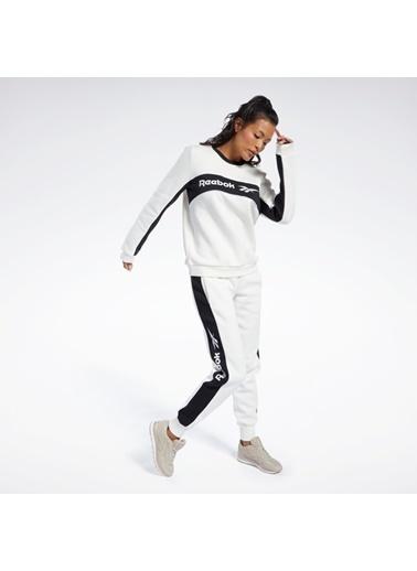 Reebok Kadın Bej Classıcs Lınear Fleece Crew Sweatshirt FL4966 Bej